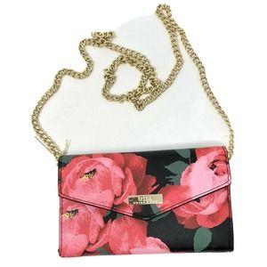 TRINA TURK Pink Rose Faux Leather Crossbody NWT